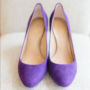 Coach pump size 8 Suede Purple